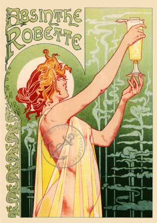 Absinthe Robette French Advert